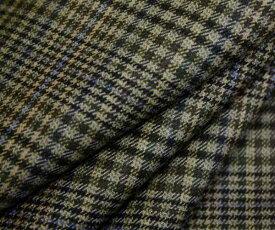 落ち着いたトーンのマルチカラー タータンチェック 日本製先染めウール ポリエステル混中肉程度のツイル(綾織り)生地 W巾150cm 布 布地 服地 通販 ツイル生地 チェック ウール生地 チェック柄 50cm以上10cm単位カット