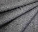 日本製上質ウールポリエステル混ライト杢グレー無地ヘリンボーン(杉綾織り・ツイル)生地やや薄手。布布地服地通販ウール生地ヘリンボンツイル生地