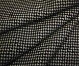 日本製ウール100%ツイル(綾織り)白黒千鳥格子チェック生地布布地服地通販チェックチェック柄ウールウール生地千鳥柄千鳥
