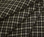 日本製ウール100%ツイード調紡毛メルトン千鳥格子チェック・ツイル生地。コートやポンチョ膝掛けに♪W巾150cm布生地布地服地通販ウールウール生地メルトンウール千鳥チェック柄