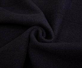日本製高級ウール100%紡毛ウールモッサ ダークネイビー ヨコ段(ボーダー)入り。厚手です メルトンよりソフトな風合い コートやポンチョに 巾150cm 厚み約1.9mm 50cm以上10cm単位 布 生地 布地 服地 通販 ウール ウール生地 無地