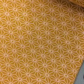 和柄 麻の葉柄 綿プリント生地110cm巾×10cm単位