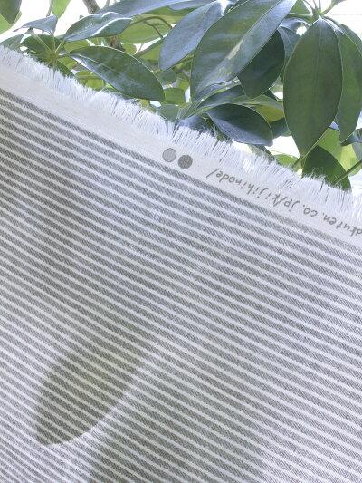 ★日本製★ヒッコリー柄★ダブルガーゼ生地【10色】50cm単位【HF180502】【2mまでネコポス発送可】
