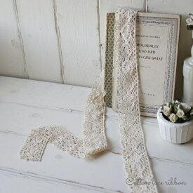 Natural torchon lace /ナチュラルトーションレース幅約4.3cm×100cm/コットンレースリボン/メール便可