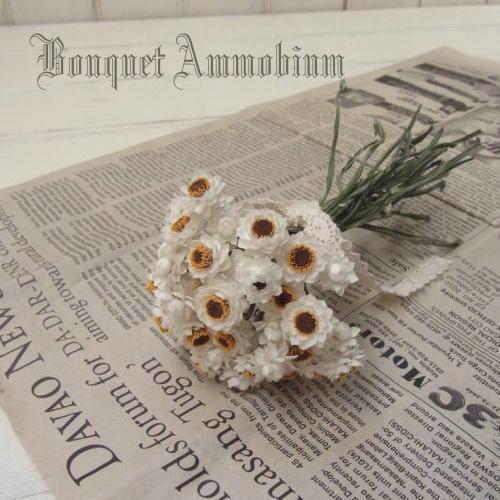 Bouquet Ammobium /アンモビュームのプチブーケ・ドライフラワーブーケ
