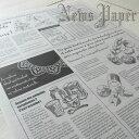 ニュースペーパージャーナル 2WR 30枚入り/英字新聞風包装紙/2パックまでメール便可
