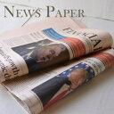 ピンクペーパー・英字新聞(緩衝材用) 100枚入り /未使用イギリスの英字新聞100枚セット・緩衝材などに。