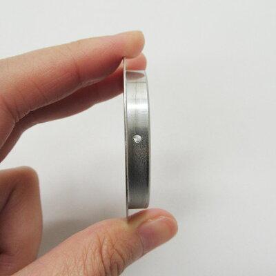ふすま襖引手ステンレス丸表面50mm底寸法42mm引手2個と引手用釘4本H-31取っ手オシャレ丈夫