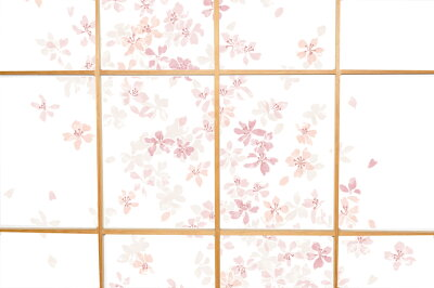 【WEB限定】プラスチック障子紙桜おしゃれ92cm×2.15mRS-001優しい花びらが舞う上品な柄破れにくい菊池襖紙工場直販