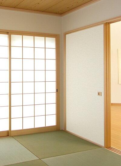 ふすま紙シールタイプ『紬つむぎ』織り糸を表現した総柄(95cm×185cm/1枚入)襖紙粘着タイプモダンおしゃれKN-234