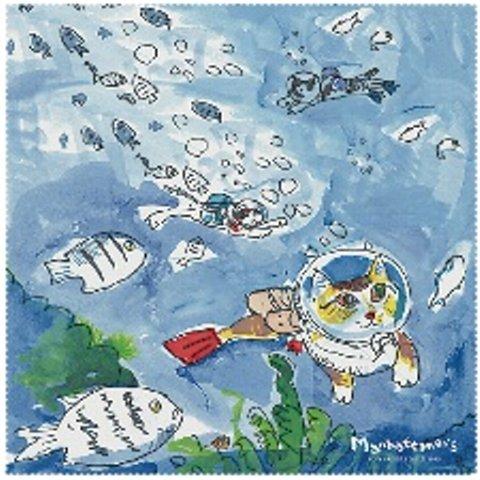 MAN‐13 ダイビング マンハッタナーズ MANHATTANER'S メガネ拭き プレゼント クロス メガネクロス【楽ギフ_包装】
