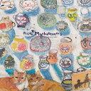 MAN‐28 フリヒリアナの白い輝きに憩う愛猫たち[マンハッタナーズ MANHATTANER'S][ メガネ拭き(クロス) メガネクロス ]【楽ギフ_包装】