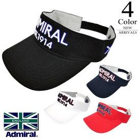 【割引クーポン有】▼サンバイザー〔ロゴ〕 【FREE(56cm):メンズ】アドミラルゴルフ Admiral GOLF ゴルフ 帽子 メンズ【2020新作モデル】 admb009f