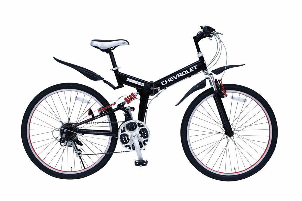 CHEVROLET WサスFD-MTB26 18SE シボレー26インチ 折り畳み MTB 18段ギア ダブルサス付き 自転車 365 ミムゴ 折りたたみ マウンテンバイク