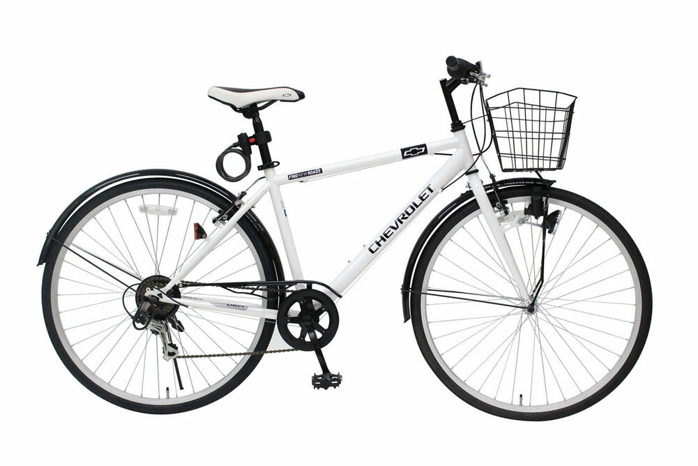 CHEVROLET CROSSBIKE700C6SF シボレー 700C クロスバイク 6段ギア かご有り ブランド 自転車 365 ミムゴ おすすめ 通勤 通学