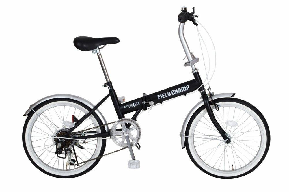FIELD CHAMP FDB206S フィールドチャンプ 20インチ折り畳み自転車 6段ギア かご無し 365 ミムゴ 折りたたみ 小型 持ち運び おすすめ