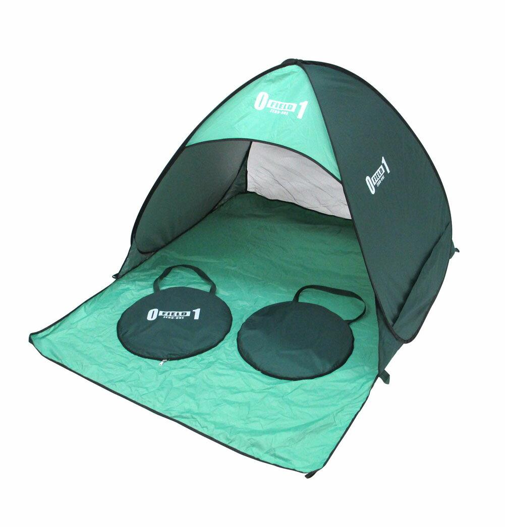 ZERO-ONE FIELD ワンタッチサンドーム アウトドアグッズ キャンプ用品 ワンタッチテント サンシェード 簡易テント