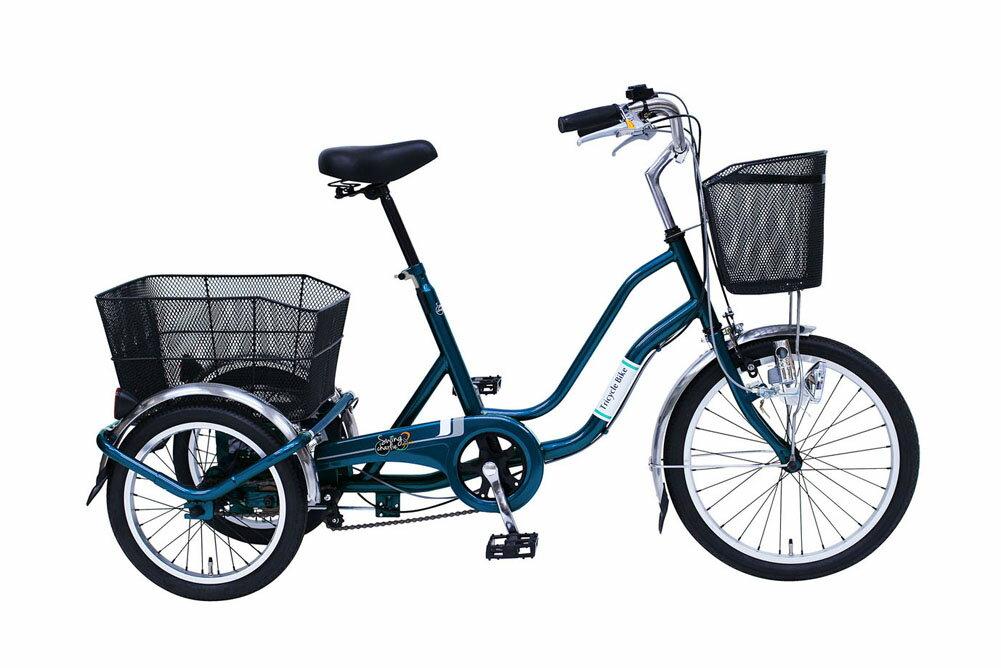 SWING CHARLIE2 三輪自転車E 20インチ ティールグリーン ミムゴ 365 大人用三輪車 荷台 人気 おすすめ おしゃれ