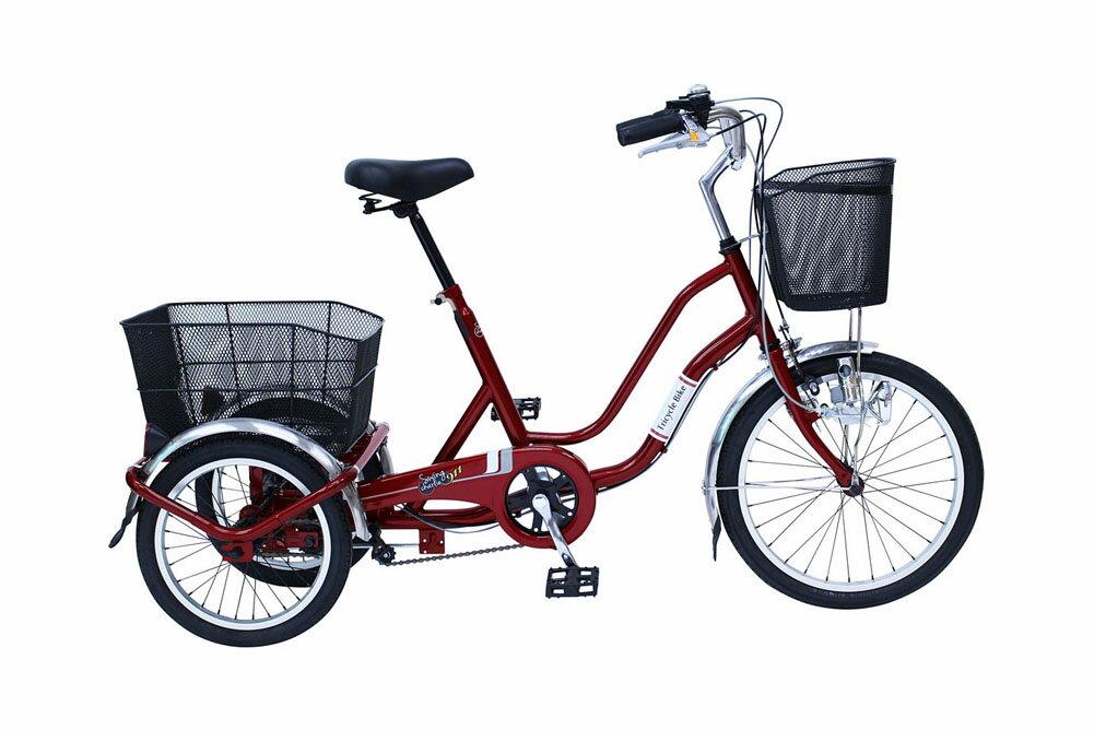SWING CHARLIE911 ノーパンク 三輪 自転車E 20インチ パンクしないタイヤ 365 大人用三輪車 荷台 人気 おすすめ おしゃれ