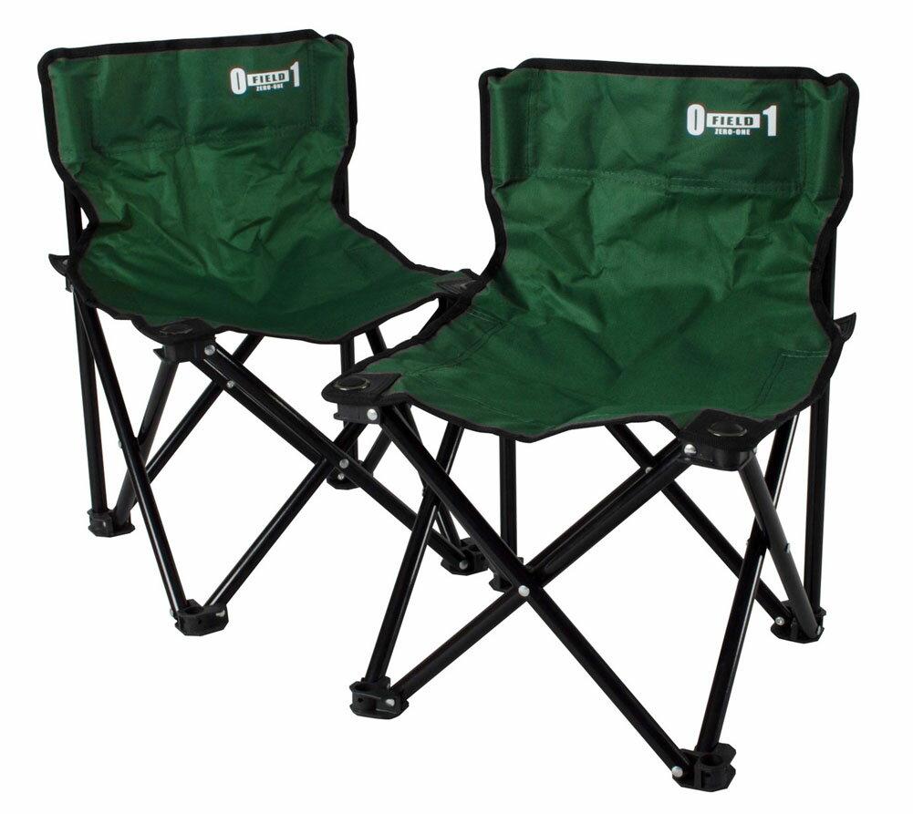 ZERO-ONE FIELD フォールディングチェア ペアセット アウトドアグッズ キャンプ用品 小型 椅子 折り畳み コンパクト 365 ミムゴ