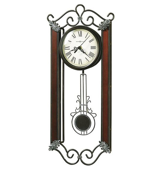 HOWARD MILLER ハワードミラー(アメリカ) Wall Clock 壁掛け時計 625-326 Carmen ロートアイアン(錬鉄製) グレー/ブラウン系 輸入時計 アナログ [ 御祝 御祝い お祝い 記念品 新築祝い 熨斗 ]【クリスマス】