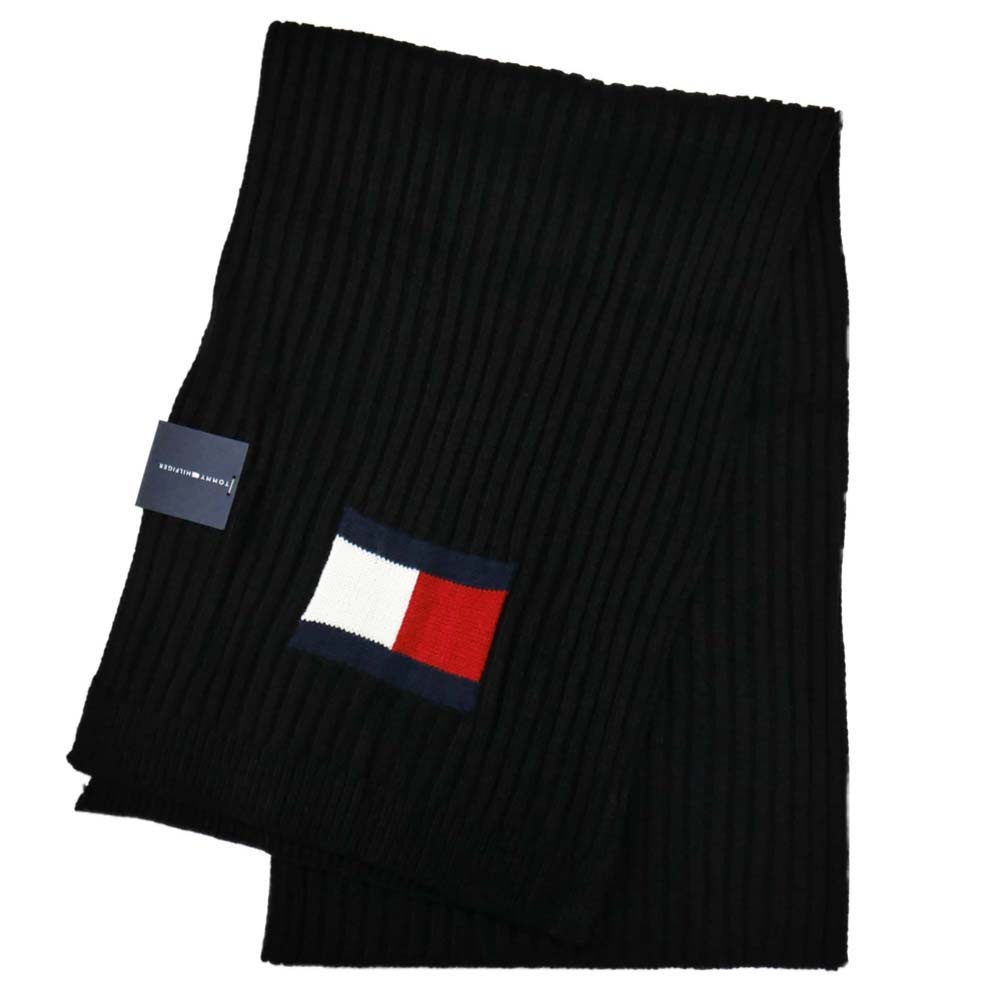 トミーヒルフィガー マフラー Knit Logo Scarf h8c73220-001 Black ブラック 黒 トミー・ヒルフィガー [プレゼント ギフト 就職祝い 入学祝い お祝い クリスマス]