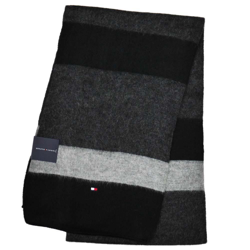 あす楽対応 トミーヒルフィガー マフラー Brushed Color Block h8c73405-001 Black ブラック 黒 トミー・ヒルフィガー [プレゼント ギフト 就職祝い 入学祝い お祝い クリスマス]