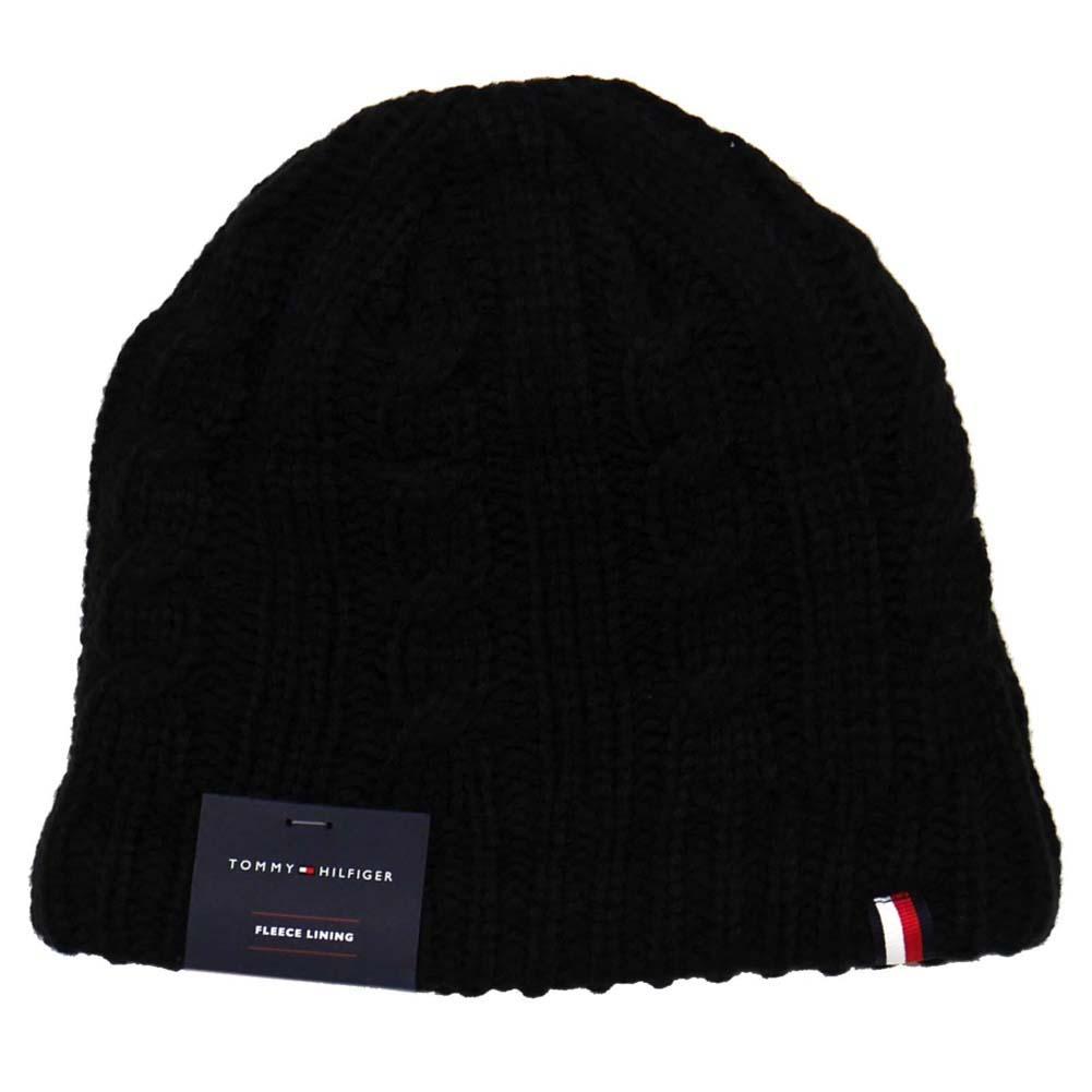 トミーヒルフィガー ニットキャップ Cuff Hat Exp Seam Crown 裏生地フリース h8h73226-001 Black ブラック 黒 トミー・ヒルフィガー [プレゼント ギフト 就職祝い 入学祝い お祝い クリスマス]