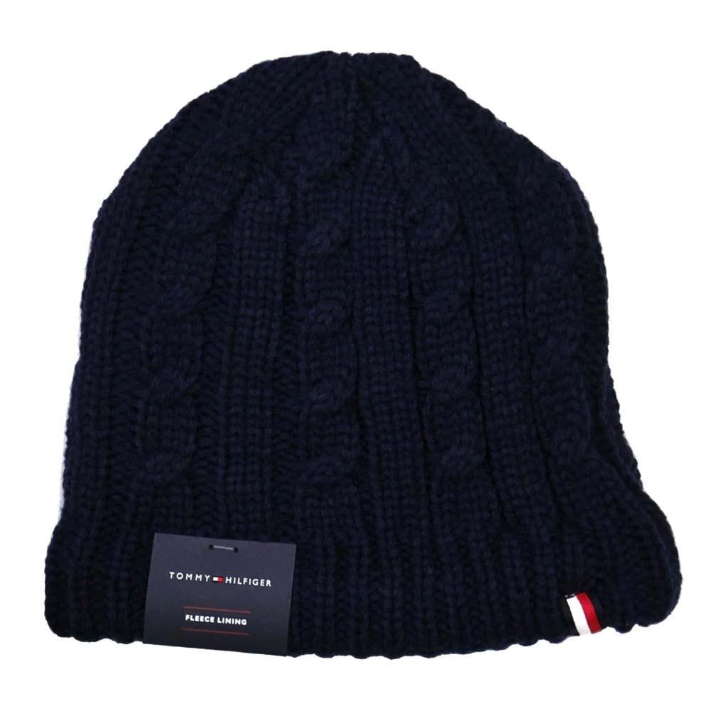 トミーヒルフィガー ニットキャップ Cuff Hat Exp Seam Crown 裏生地フリース h8h73226-411 Navy ネイビーブルー 紺色 トミー・ヒルフィガー [プレゼント ギフト 就職祝い 入学祝い お祝い クリスマス]