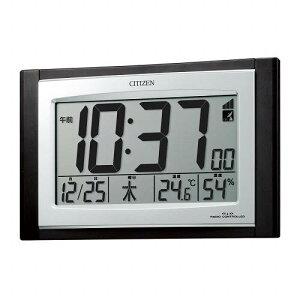シチズン 電波時計 壁掛け 置き兼用時計 パルデジットコンビR096 8RZ096-023 温度計 湿度計 デジタル 置時計 CITIZEN リズム時計工業 [贈り物 周年 創業 新築祝い 引越し祝い 竣工 父の日 母の日 定