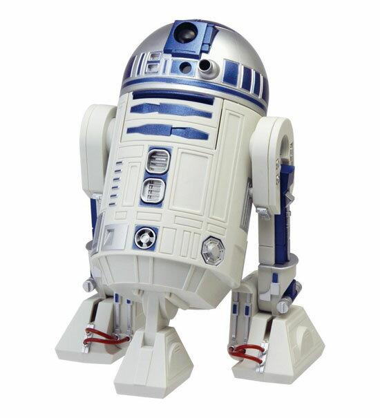 リズム時計工業 STAR WARS スター・ウォーズ 目覚まし時計 R2-D2 アクション・アラーム・クロック 8ZDA21BZ03 音楽 動く 白 青 デジタル フィギュア [ 御祝 御祝い お祝い 記念品 新築祝い 熨斗 父の日 バレンタインデー クリスマス ]
