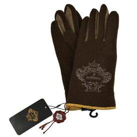 あす楽対応 オロビアンコ OROBIANCO レディース手袋 ORL-1570 glove タッチパネル対応 D.BROWN サイズ:フリーサイズ ダークブラウン スマホ対応 スマートフォン対応 茶色 [ギフト プレゼント ラッピング無料 お祝い クリスマス]