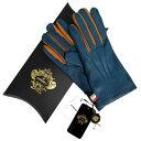 オロビアンコ OROBIANCO メンズ手袋 ORM-1406 Leather glove 羊革/ウール BLUE サイズ:8(23cm) ブルー系 男性用 レ…