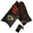 オロビアンコ OROBIANCO メンズ手袋 ORM-1406 Leather glove 羊革/ウール DARKBROWN サイズ:8.5(24cm) ダーク...