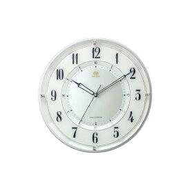 リズム時計工業 RHYTHM HIGH GRADE RHG-M120 電波 壁掛け時計 8MY558HG03 連続秒針 日本組立 白パール アナログ
