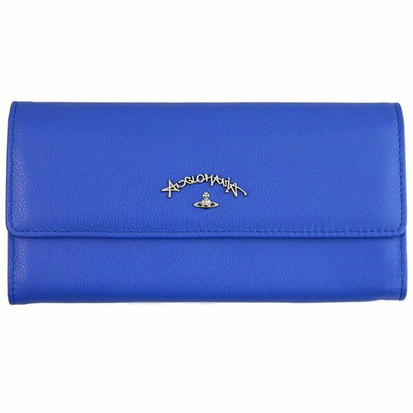 あす楽対応 ヴィヴィアンウエストウッド Vivienne Westwood 長財布 321245 BLUE ブルー 青 レディース 女性用 [ビビアン ギフト プレゼント ラッピング無料 お祝い 母の日 クリスマス]