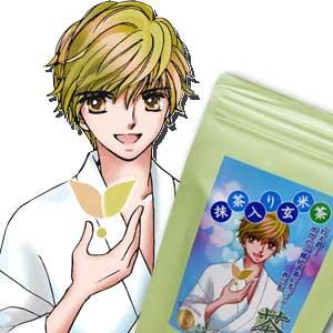海外販売専用商品日本茶 お茶 精霊 菊之園萌えキャラ 赤川玄のオススメプレミアム ティーバッグ ハーフ【抹茶入り玄米茶】3g×16P入【RCP】日本国内へのお届けは、消費税を加算させていただきます。