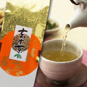 日本茶 緑茶 ブレンド茶 玄米茶 お徳用菊之園【玄米茶(竹)】500g袋入【RCP】【領収書対応可】※パッケージデザインが、変更されます。