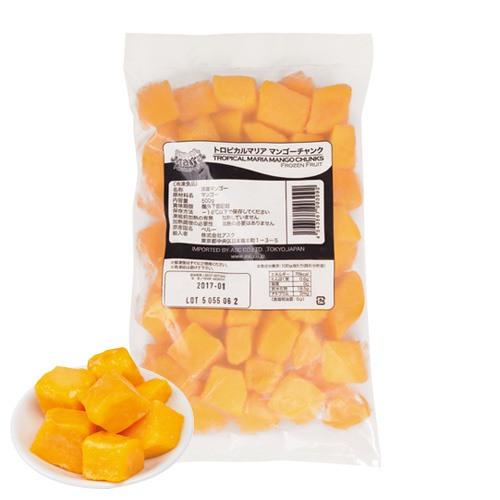 トロピカルマリア 冷凍カットマンゴ 500g / 製菓材料、パン材料、冷凍フルーツ