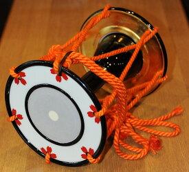 小鼓 桜花紅模様 本金箔仕上げ 合成皮製で良く鳴ります トランクケース別売 鼓製作販売きくや