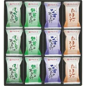 【 お中元 超特価 】 アマノフーズ フリーズドライ 味わいづくしギフト(24食) M-300A [ フリーズドライ スープ 味噌汁 詰合せ ギフト セット ] 人気 おすすめ ギフト [ 2020年 お中元 ギフト 夏