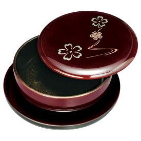 [47%OFF] MAKOTO japan 溜 華ゆらぎ 盆付菓子器 2204059 [のし 包装 カード 無料]