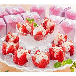 [送料無料 ギフト バレンタイン 御中元 お歳暮] 花いちごのアイス 10個 A-ICメーカー直送 [スイーツ ギフト]