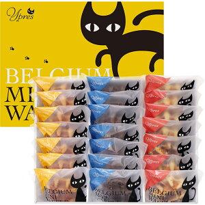 [送料無料 ギフト 御中元 お歳暮] イーペルの猫祭り ベルギーミニワッフル 計21個 YJ-BWメーカー直送 [スイーツ ギフト]