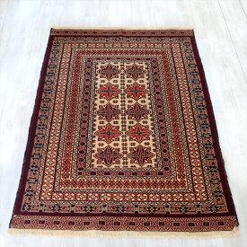 ミシュワニ・アフガンキリム/スーパーファイン198×132cm細かなスマック織りの幾何学モチーフ