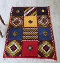モロッコキリム・タズナフト/ヤストゥクサイズ99×66cm凹凸のあるパイル織りミックス