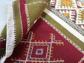 モロッコキリム・タズナフト/ヤストゥクサイズ117×72cm凹凸のあるパイル織りミックス
