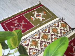 モロッコキリム・タズナフト/ヤストゥクサイズ凹凸のあるパイル織りミックス