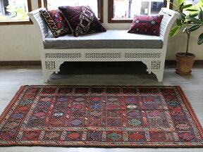 東イランの素朴な手織りキリム・グチャン/セッヂャーデ175×100cmカラフルなジジム