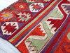 Feather red & orange of オールドキリム Kayseri Cappadocia 120*85cm コチボユヌズ and the bird